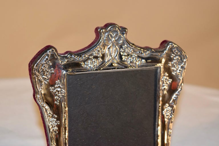 Sterling Art Nouveau Picture Frame In Good Condition For Sale In High Point, NC