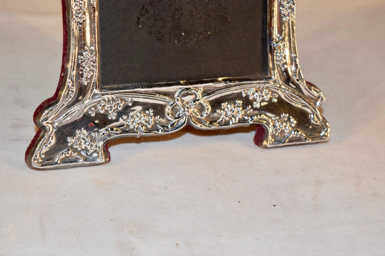 Early 20th Century Sterling Art Nouveau Picture Frame For Sale