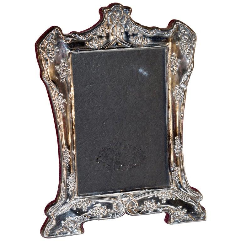 Sterling Art Nouveau Picture Frame For Sale