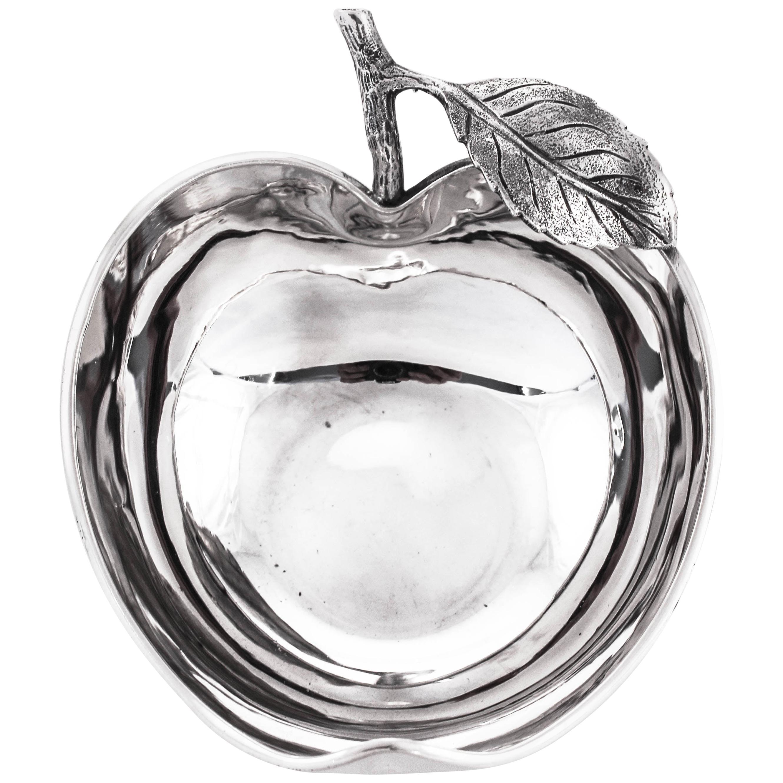 Sterling Arts & Crafts Apple Dish