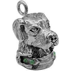 Sterling Barry Kieselstein-Cord Dog Pendant