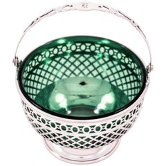 Sterling Basket with Green Liner