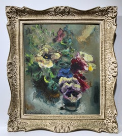 Floral Still Life (abstract pansy flower arrangement)