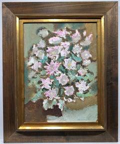 Pink Floral Still Life (abstract flower arrangement)