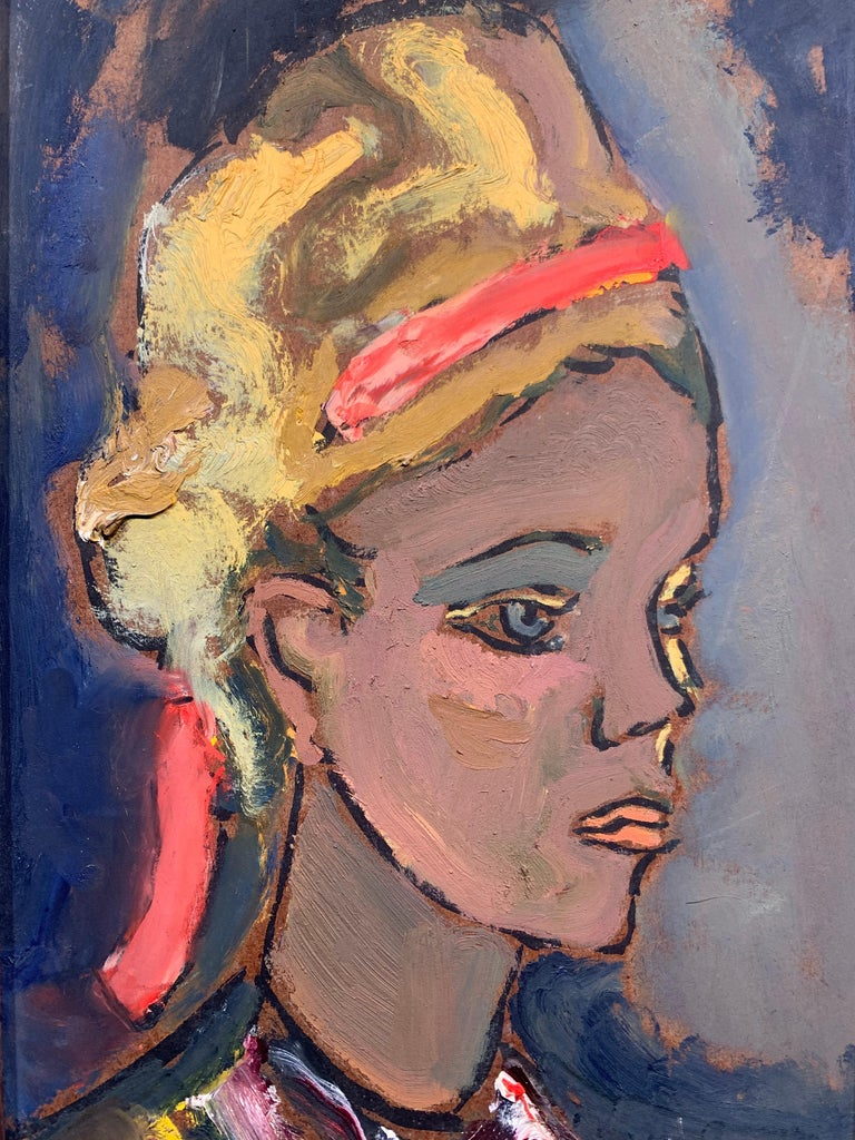 Portrait of a Young Woman - Painting by Sterling Boyd Strauser