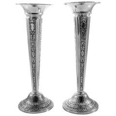 Sterling Bud Vases