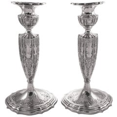 Sterling Candlesticks by Durgin