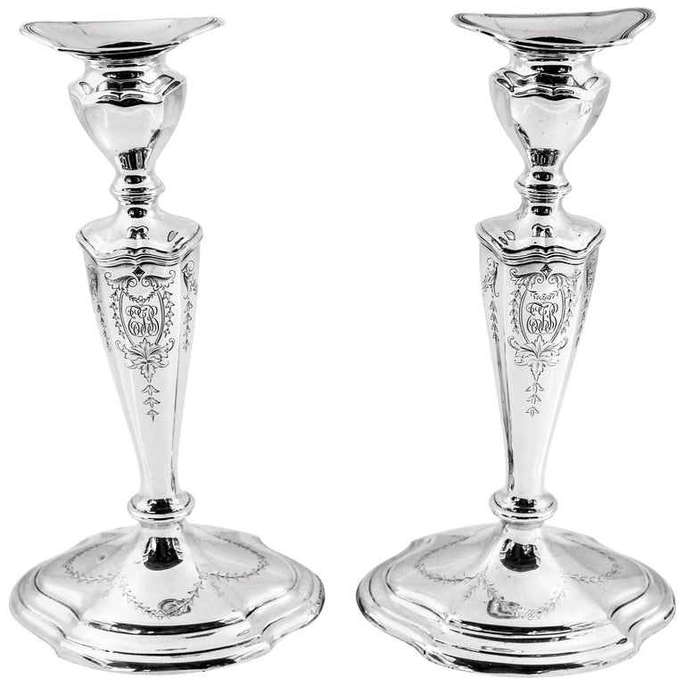 Sterling Candlesticks For Sale
