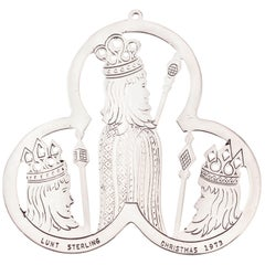 Sterling Christmas Three Wise Men Ornament