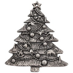 Sterling Christmas Tree Ornament