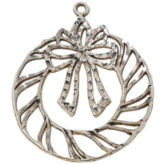 Sterling Christmas Wreath Ornament
