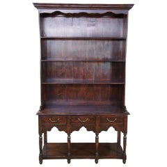 Sterling Collection English Pine Welsh Style Hutch Sideboard Cupboard H-014