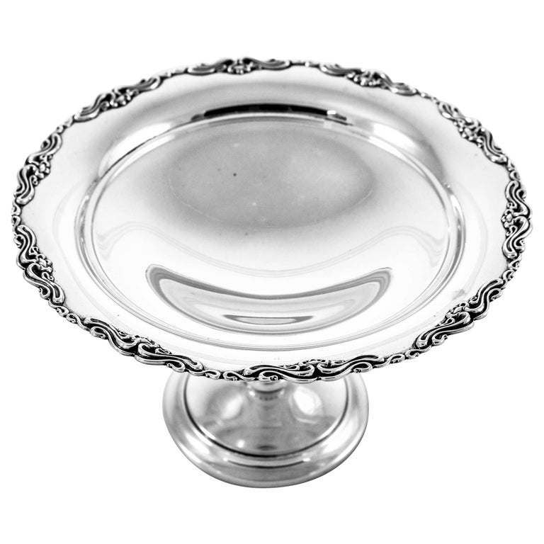 Sterling Compote For Sale