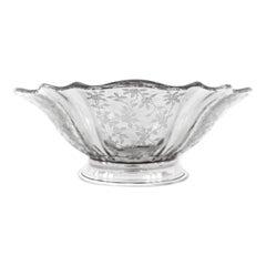 Sterling & Crystal Bowl