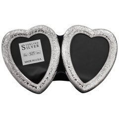 Sterling Double-Heart Frame