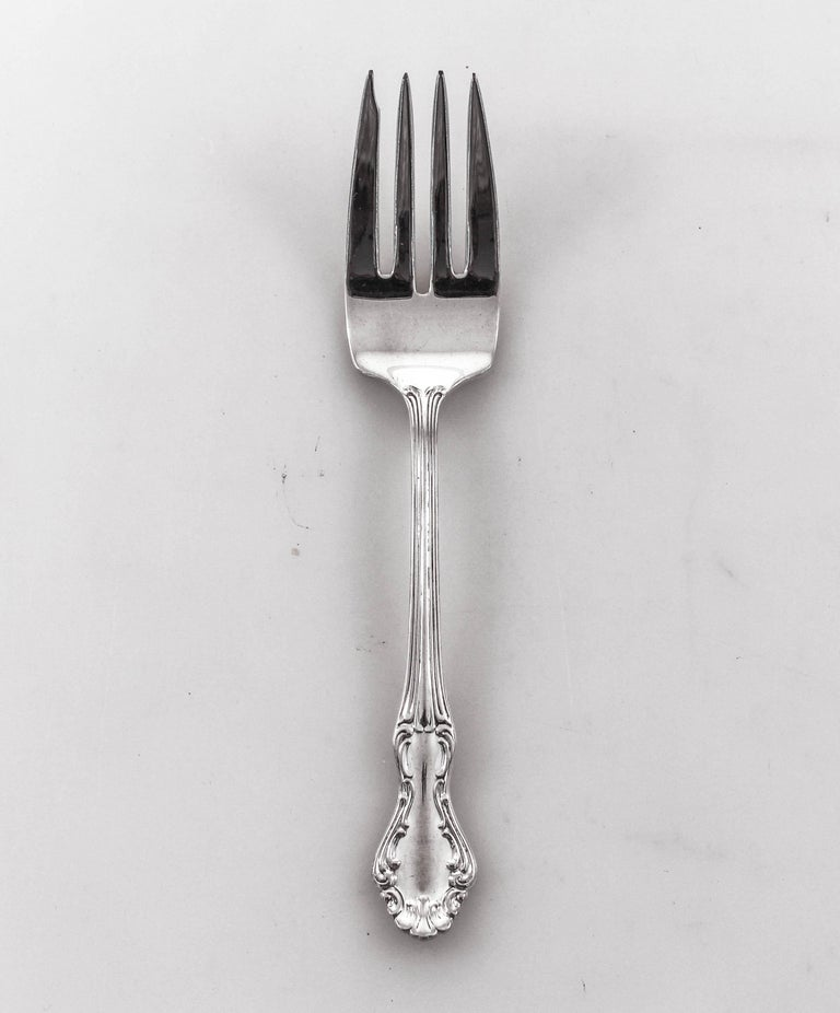 Sterling Flatware, Service for 12/5 Piece Settings In Excellent Condition For Sale In Brooklyn, NY