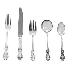 Sterling Flatware, Service for 12/5 Piece Settings