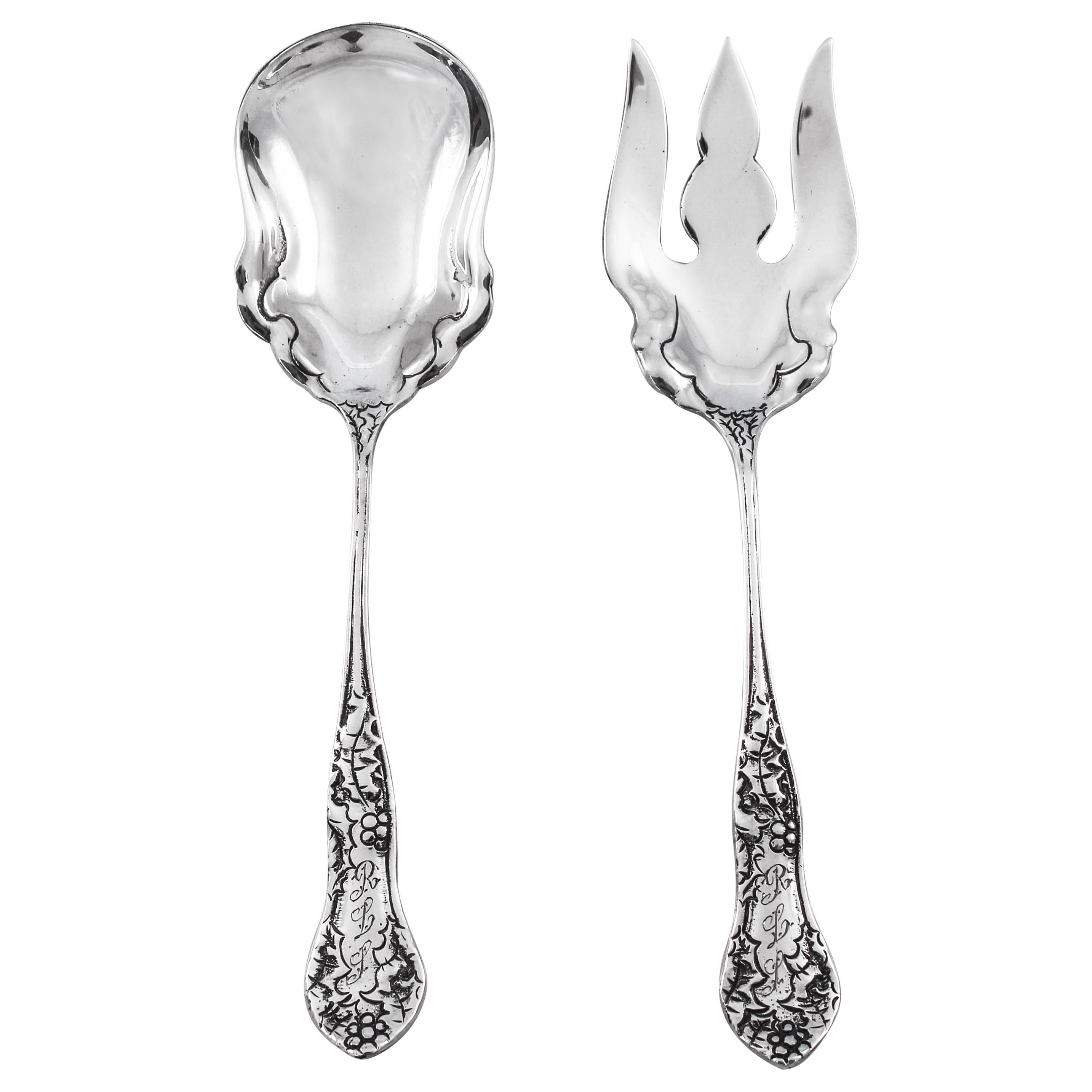 Sterling Fork and Spoon Set