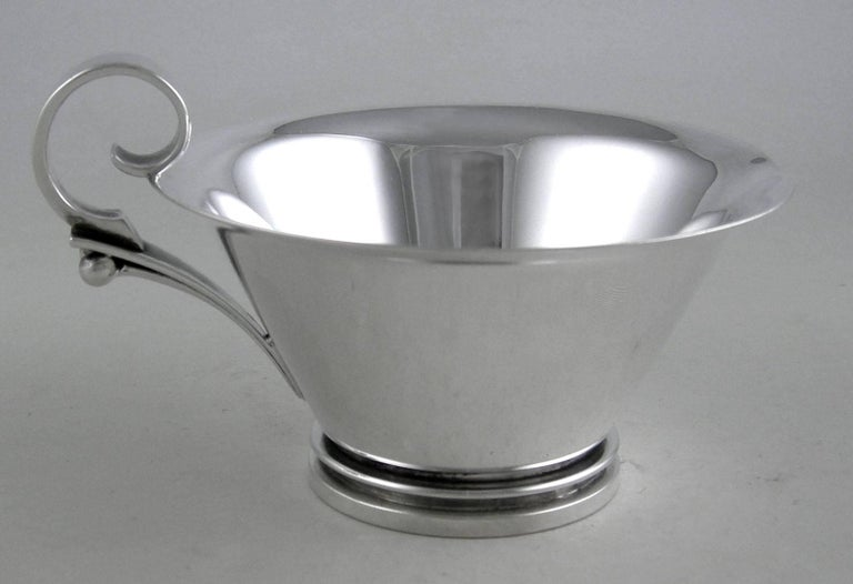 Sterling Georg Jensen Pyramid Three-Piece Coffee Set, 1930 For Sale 1