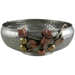 Sterling Gorham Mixed Metal Footed Bowl