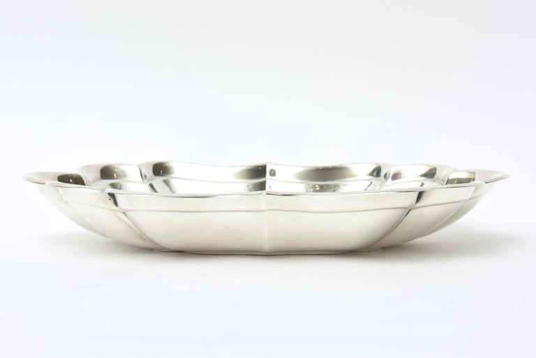 Sterling Hallmarked Silver Bowl Vintage In Good Condition For Sale In North Miami, FL