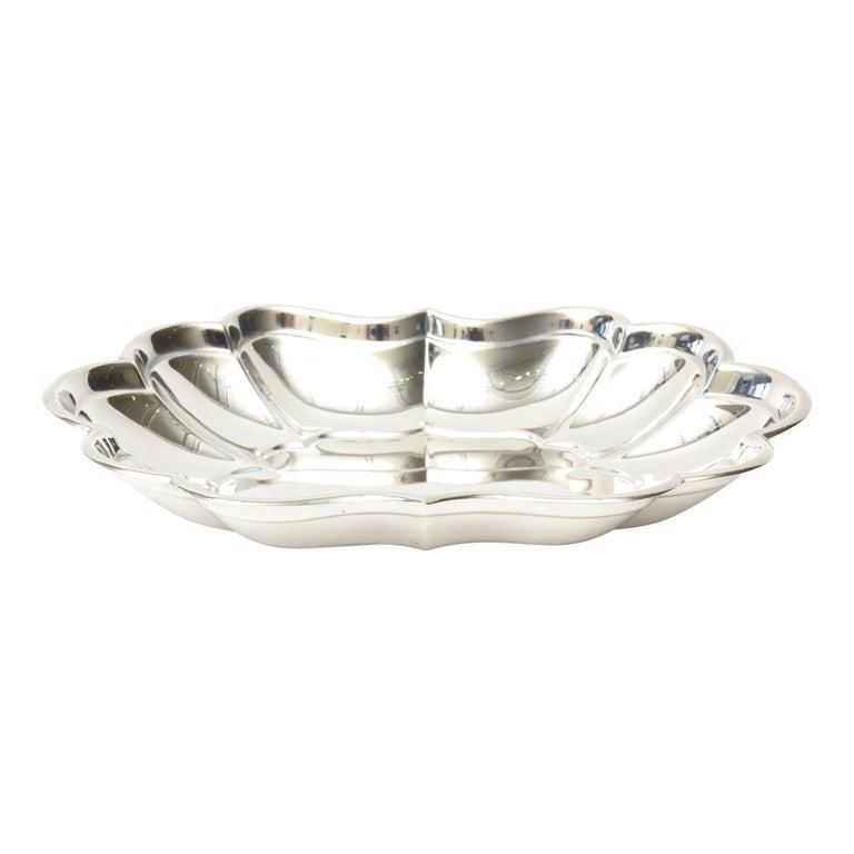 Sterling Hallmarked Silver Bowl Vintage For Sale