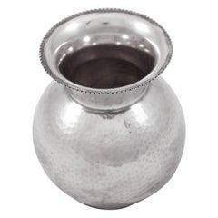 Sterling Hammered Vase