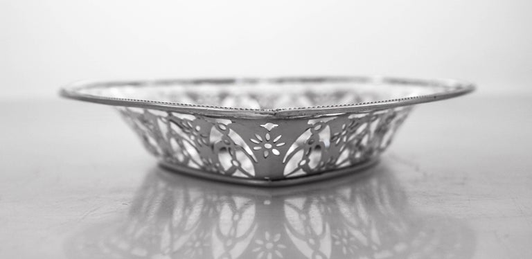 Mid-20th Century Sterling Heart Dish For Sale