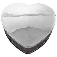 Sterling Heart Shaped Jewelry Box