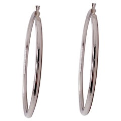 Sterling Hoop Earrings, Large Hoops