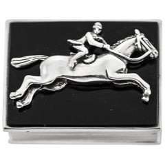 Sterling Horse Riding Pillbox