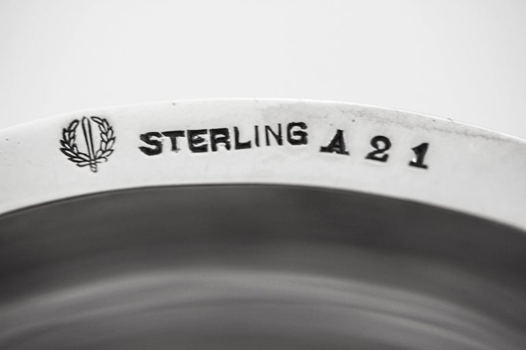 Sterling Ice Bucket and Tongs For Sale 4