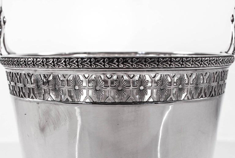 Sterling Silver Sterling Ice Bucket and Tongs For Sale
