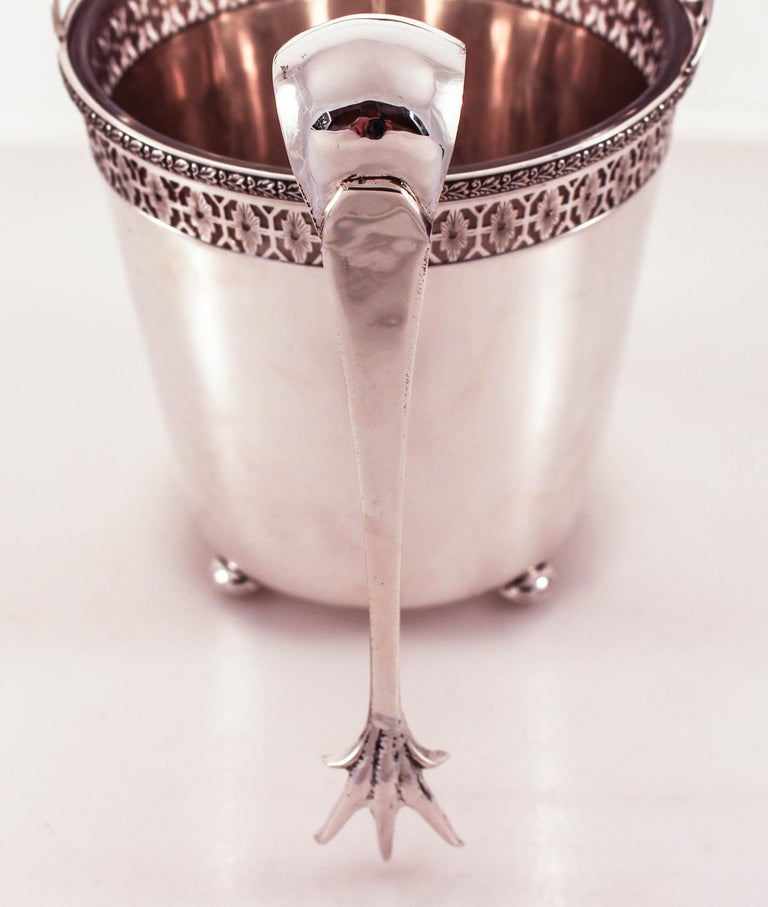 Sterling Ice Bucket and Tongs For Sale 2