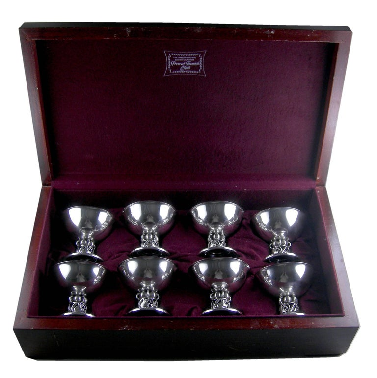 Sterling Silver Sterling International Sorbet Cups, Set of Eight For Sale