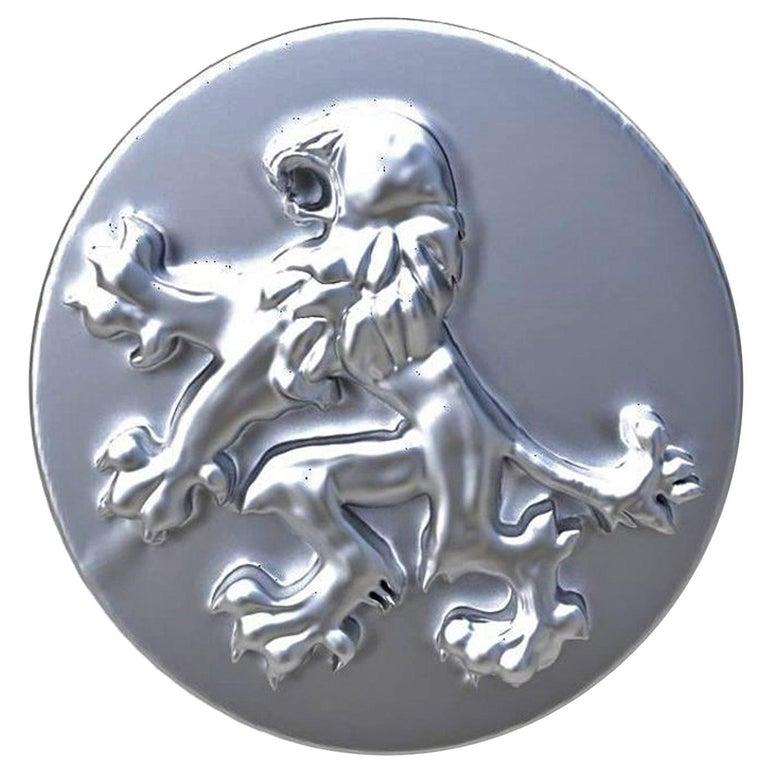 For Sale: undefined Sterling Lion Rampant Signet Ring
