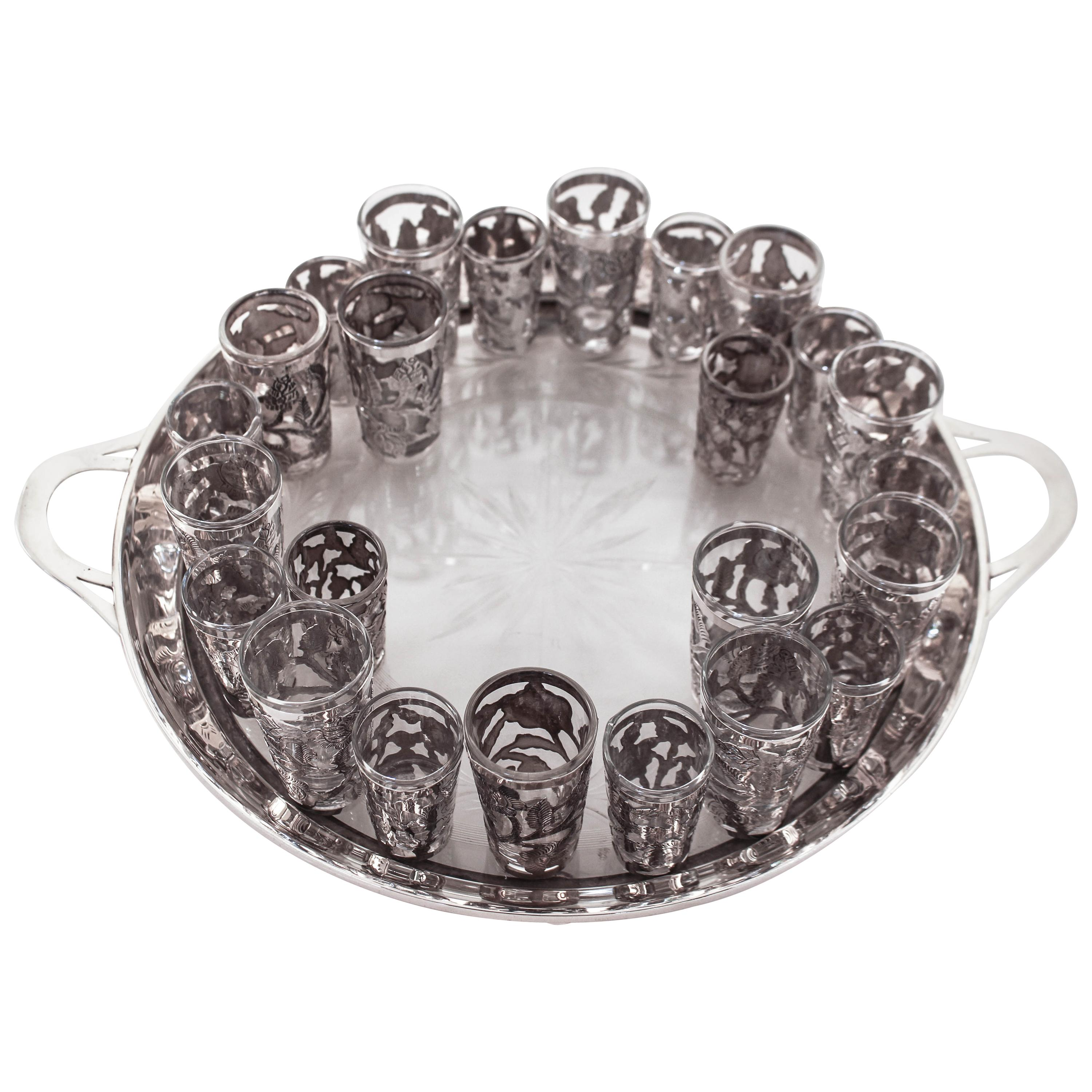 Sterling Liquor Set with Tray
