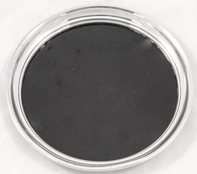 American Sterling Mid-Century Wine Coaster For Sale