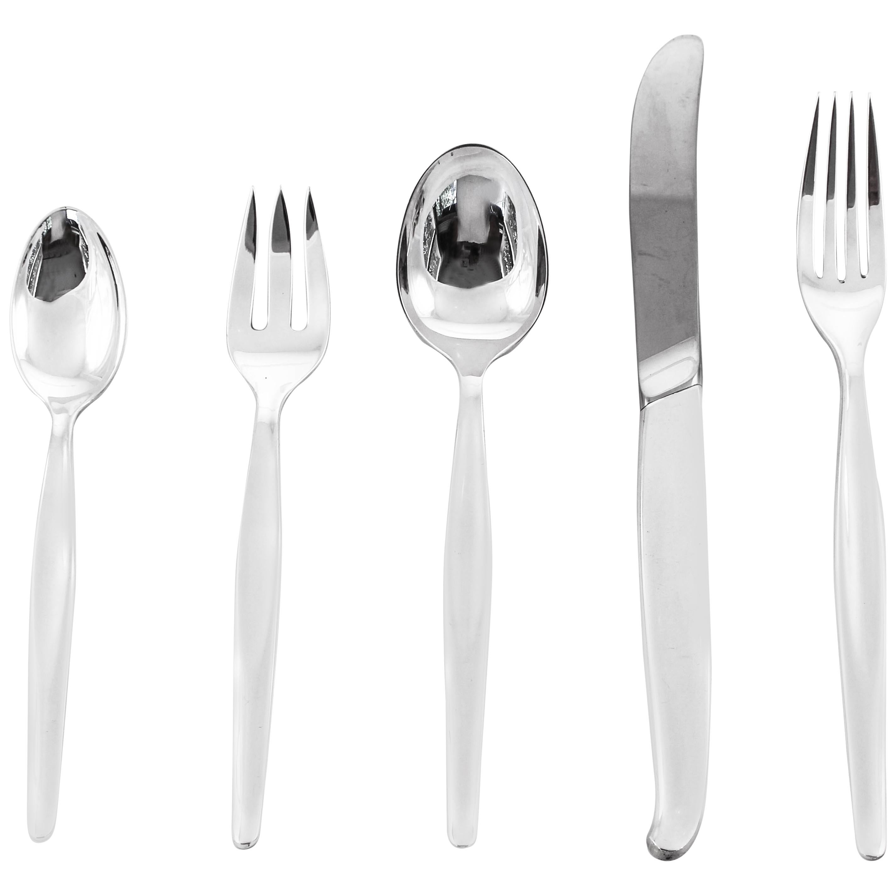Sterling Midcentury Flatware Set Service for 24/5 Piece Setting /120 Pieces
