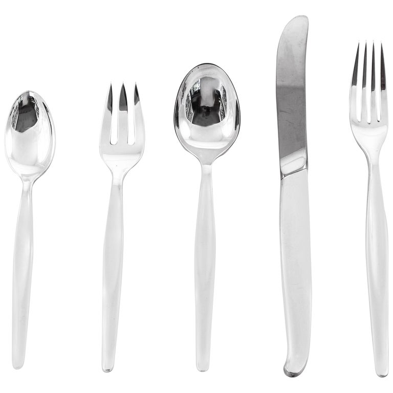 Sterling Midcentury Flatware Set Service for 24/5 Piece Setting /120 Pieces For Sale