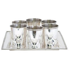 Sterling Mint Julep Cups and Tray