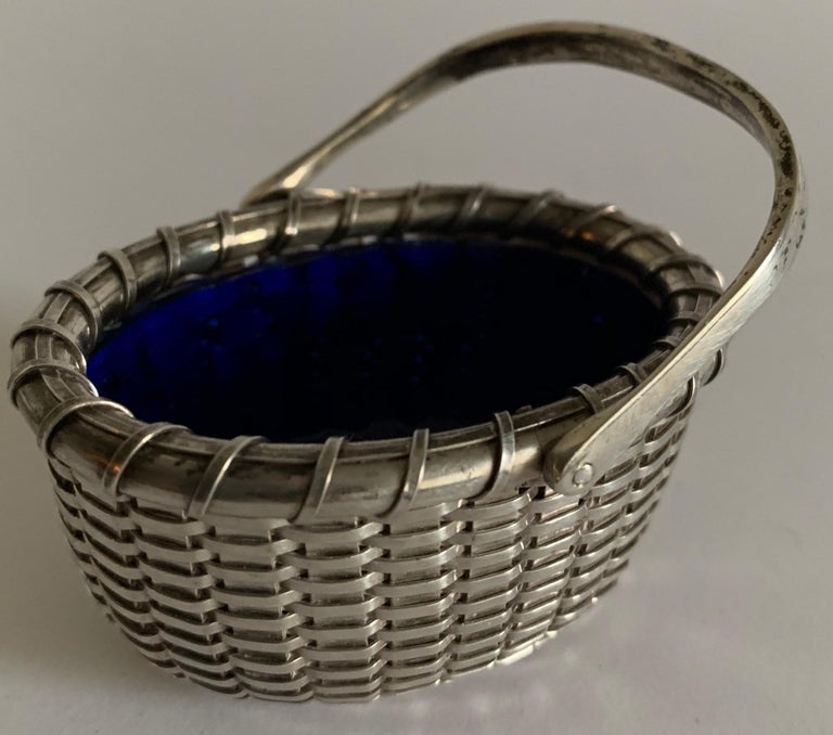 Sterling Silver Nantucket Basket Salt Cellar by Bethany Borzilleri In Good Condition In Stamford, CT