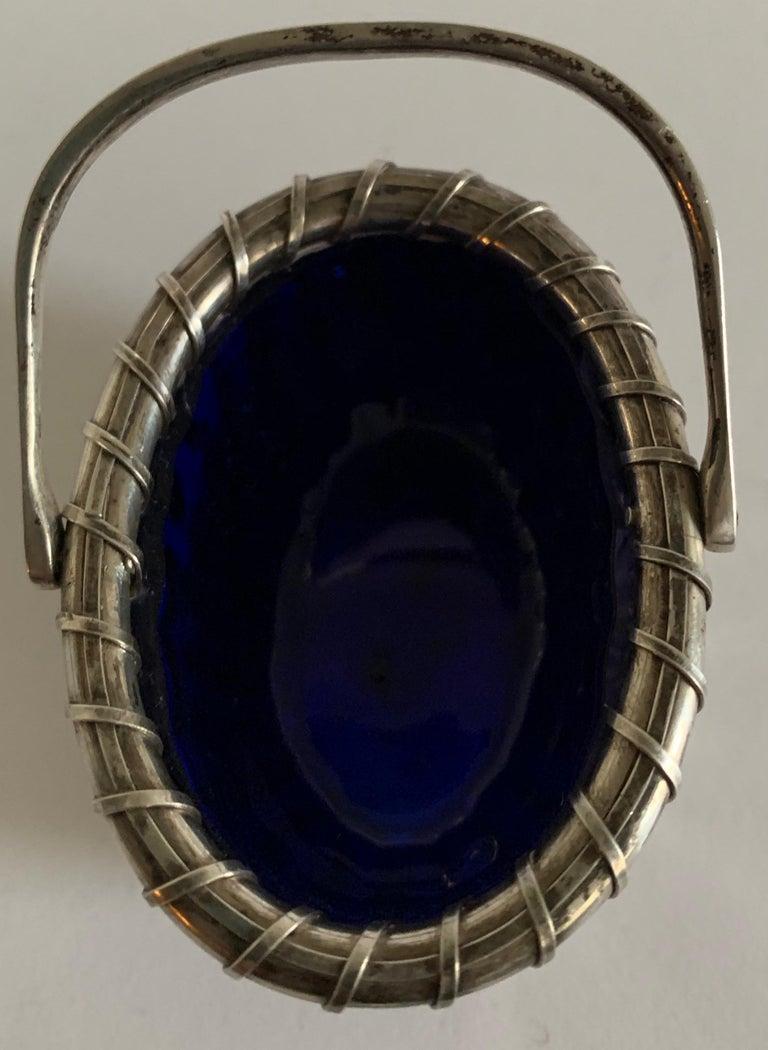 20th Century Sterling Silver Nantucket Basket Salt Cellar by Bethany Borzilleri