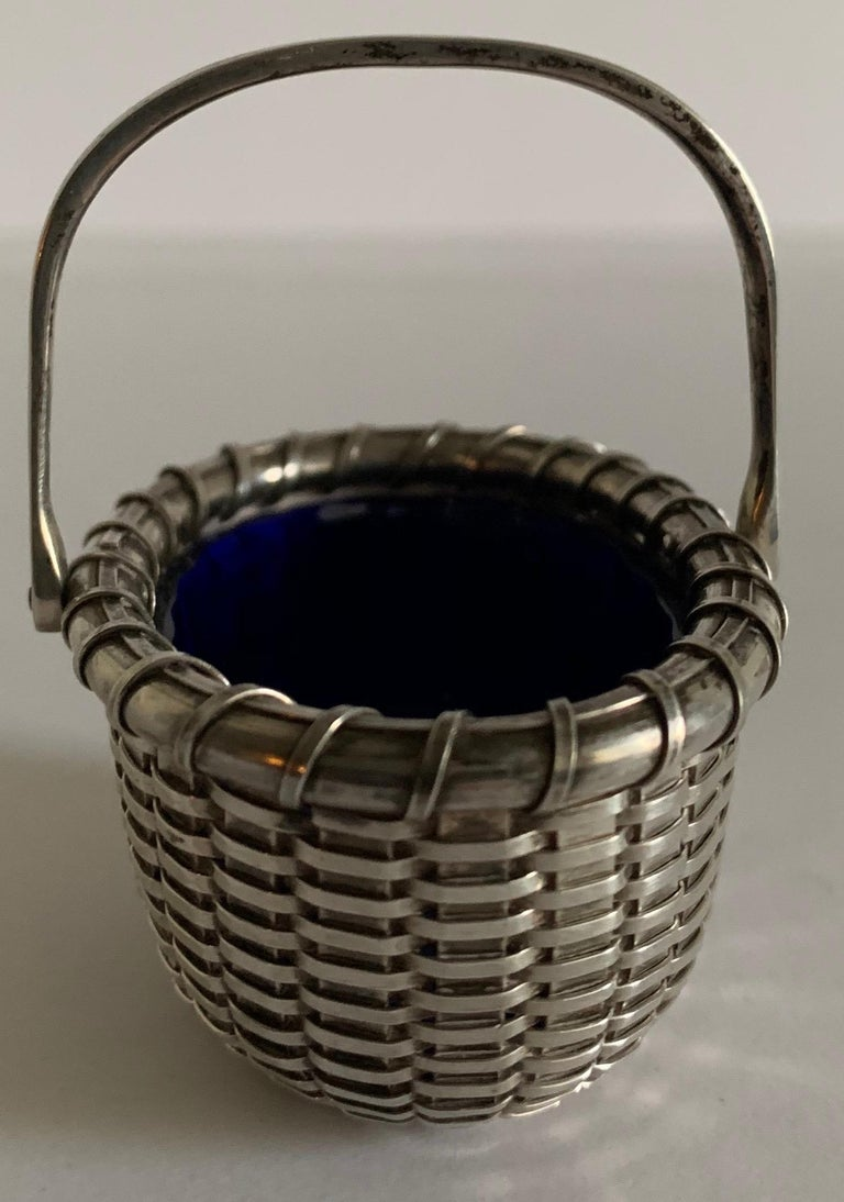 Glass Sterling Silver Nantucket Basket Salt Cellar by Bethany Borzilleri