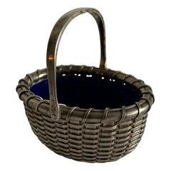 Sterling Silver Nantucket Basket Salt Cellar by Bethany Borzilleri