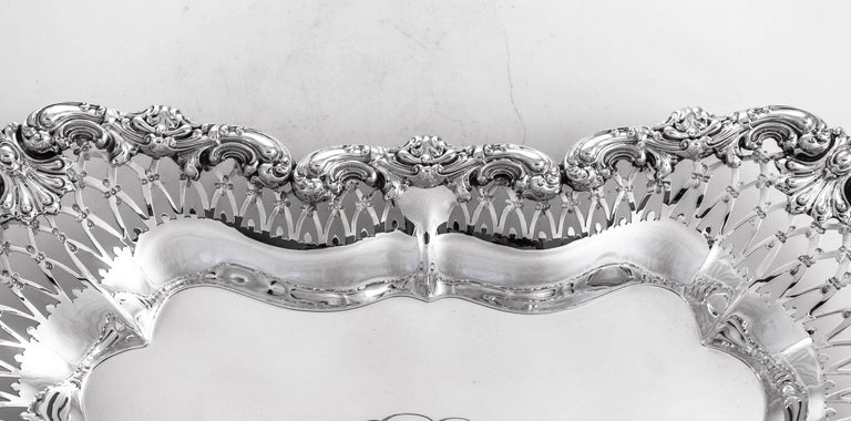 American Sterling Oblong Dish For Sale