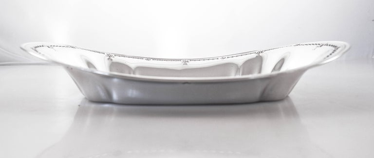 Mid-20th Century Sterling Oblong Dish For Sale