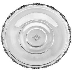 Sterling Platter on Pedestal