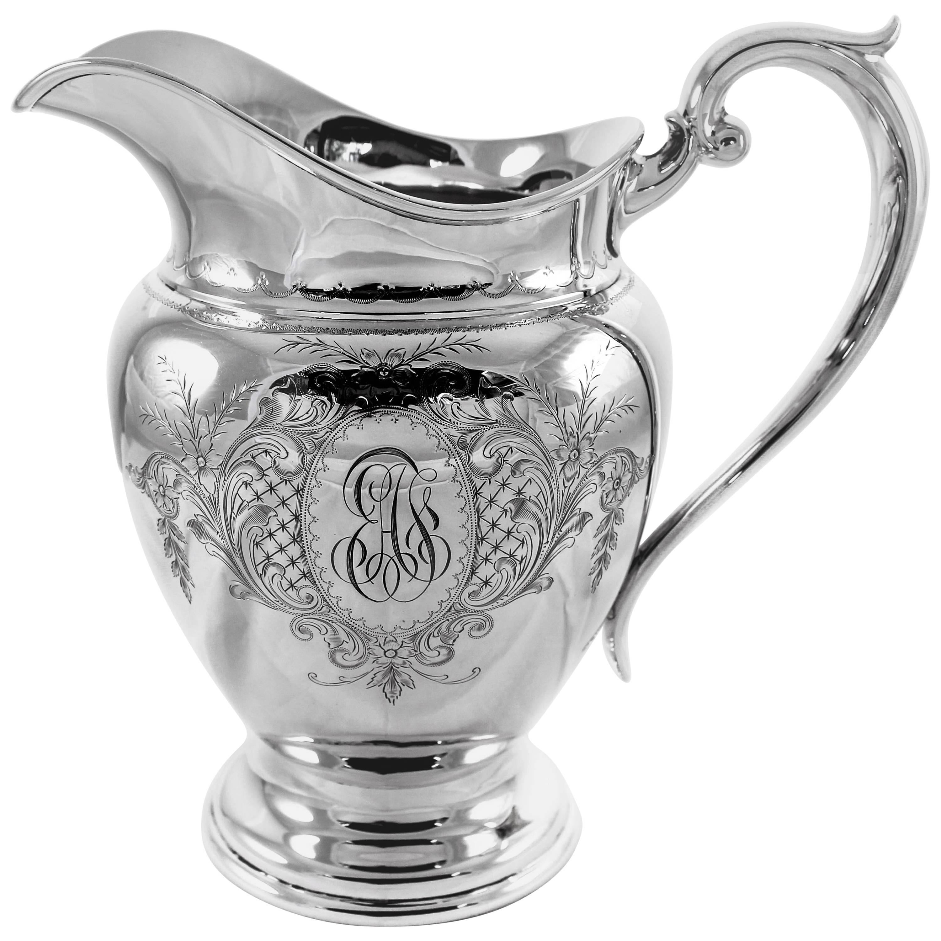 Sterling Puritan Water Pitcher