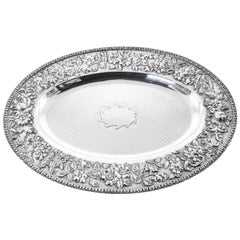 Sterling Repousse Tray